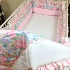 Princess in Pink Baby Bedding by Nava from @PoshTots #bedding #nursery #pink #flowers