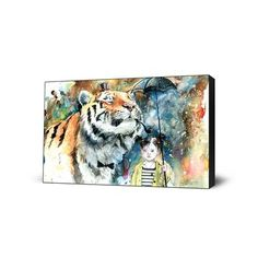 Mr. Tiger Large Art Block, $99, now featured on Fab. [Lora Zombie, Eyes On Walls]