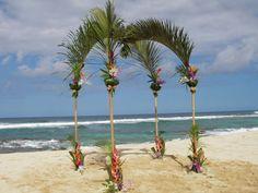 Beach Wedding Arch Ideas | ... -wide delivery for Hawaiian wedding bouquets, Haw > Wedding Flowers
