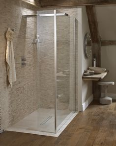 Playtime walk-in shower 1200 with integrated shower head - £749 http://www.bathstore.com/products/playtime-walkin-shower-1200-with-integrated-shower-head-2323.html  Leo LED illuminated mirror http://www.bathstore.com/products/leo-led-illuminated-mirror-2276.html