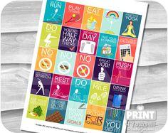 Motivational Diet/Excercise Planner Stickers by Printable Planner, Planner Stickers, Printables, Stationery List, Erin Condren Life Planner, Excercise, Motivational, Diet, Prints
