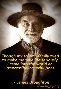 #JamesBroughton irrepressibly cheerful #poet Big Joy Project.  Watch the inspiring film, BIG JOY: The Adventures of James Broughton www.bigjoy.org