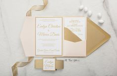 This beautiful suite is the simplified versoin of our Evelyn with glitter. Not everyone loves glitter (WHAT?!) so we made this suite for those who still love elegance, but without the bling This suite includes: Invitation on heavy white cover stock Paper invitation mat, belly band & belly tag mat (your choice of color!) Pocket Fold (your choice of color) RSVP card on heavy white cover stock Insert card on heavy white cover stock Insert card #2 on heavy white cover stock Be...