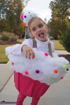 colorful cupcake costume for girls - Halloween Costume Cupcake