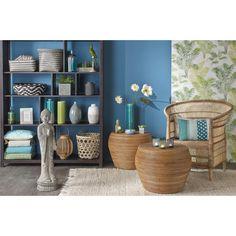 Vase en grès bleu H 36 cm KWAI