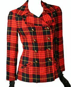 Vintage Tartan Plaid Jacket