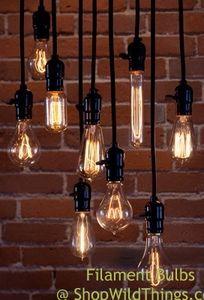 Antique Filament Light Bulbs