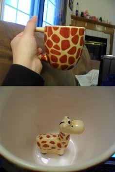 Giraffe mug...with a little giraffe inside! I just bought this :)