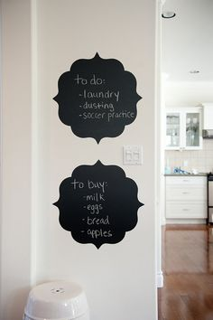 chalk board wall decals. $45 for 2.