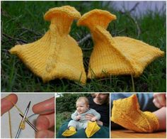 Knitted duck feet slippers! So cute!