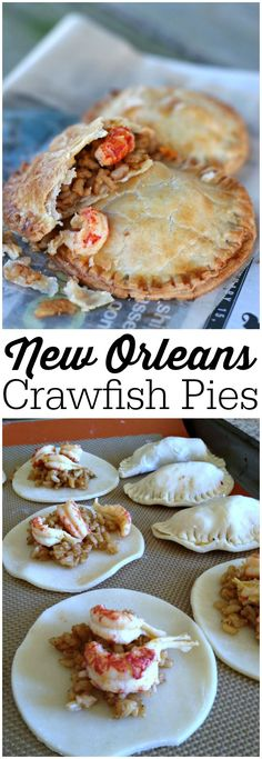 New Orleans Jazz Fest Crawfish Pies from LauraFuentes.com