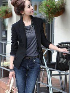 One Button Slim Casual Business Blazer Suit Jacket