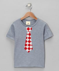 Take a look at this Gray & Red Argyle Tie Tee - Infant, Toddler & Boys by Million Polkadots on #zulily today!
