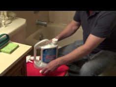 Cleaning a Shower - Once a Week Shower Cleaner - Easy Cleaner to Remove Scum and Mold - YouTube