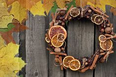 Spiced Autumn Wreath Fragrance Oil: This scent smells exactly like you think it would - an Autumn wreath hanging on the front door. Apples, pears, and mandarin rinds are woven into a wreath made of dried leaves and decorated with spicy cinnamon stick, cloves, and vanilla pods. This is straight up Autumn in a bottle. Strong, heady, amazing!