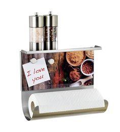 Wenko 53410100 Épices Porte-Rouleau Magnétique avec Support de Rangement Métal Multicolore 28 x 28 x 13 cm: Amazon.fr: Cuisine & Maison