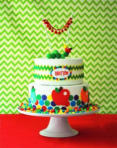 Hungry Caterpillar Cake. Adorable!!