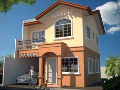Monte Carlo located in Vito,Minglanilla,Cebu,Philippines House Paint Exterior, Exterior House Colors, Dream House Exterior, Dream Home Design, Modern House Design, Bungalow House Design, Two Story House Design, 2 Storey House Design, Model House Plan