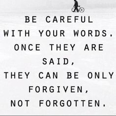 I don't ever... EVER call people names or say things to bring them down. I've been there, I've been called every name in the book, and when I was apologized to, forgave... but I will never forget. I always let karma do my dirty work.