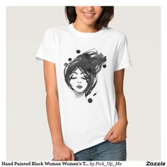 Hand Painted Black Woman Women's T-shirts