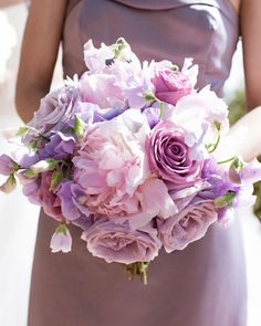 purple wedding bouqet