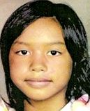 """Missing: Faloma Luhk,10, HI, 05/25/2011, Height: 5' 1"""", Weight 90 lbs, Pacific islaner female, brown hair, brown eyes, Last seen wearing a light green shirt with butterfly design and blue jeans. Last seen standing at a school bus stop with her sister, Maleina, who is also missing. They missed the bus and have never been heard from again. If you have any information please contact Northern Mariana Islands Department of Public Safety: 670-234-6006"""