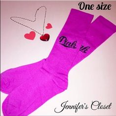{Victoria Secret PINK} purple knee high socks ❌NO TRADES ❌NO HOLDS ❌NO PP ✮ITEMS ARE 100% AUTHENTIC   ✮PLEASE DO NOT RATE ME BASED UPON FIT/SIZE OF YOUR ITEM. ASK FOR MEASUREMENTS OR PURCHASE AT YOUR OWN RISK✮ PINK Victoria's Secret Accessories Hosiery & Socks