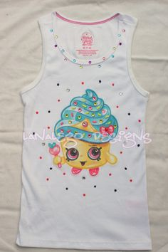 Shopkins inspired Cupcake Queen Tank top with by LanaLego on Etsy