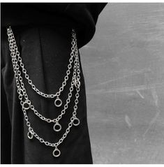 Pants chain Black Chain Necklace, Men Necklace, Gothic Men, Goth Guys, Goth Accessories, Grunge Jewelry, Chains For Men, Aesthetic Grunge, Grunge Outfits
