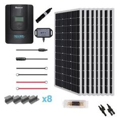 Renogy New 400-Watt 12-Volt Mono Solar Premium Kit for Off-Grid Solar System-PREMIUM400DR40 - The Home Depot Cable Tray, Off Grid Solar, Emergency Power, Mount System, Insulation Materials, Off The Grid, Low Lights, Solar Lights, Solar Energy