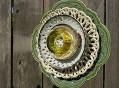 Recycled Glass Plate Garden Art Fantasy by TheEverlastingGarden, $35.00