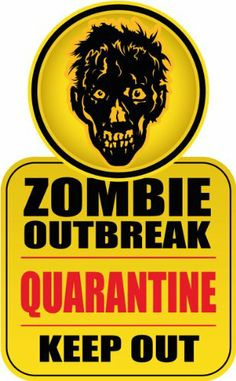 Zombie Outbreak Quarantine Keep Out Warning Sign Bumper Sticker Decal 8 x 12 cm topstick http://www.amazon.co.uk/dp/B00HT2F70K/ref=cm_sw_r_pi_dp_Ej3Jtb15QPFGFF3R