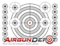 Printable airgun targets Muli-Target - Printable Target