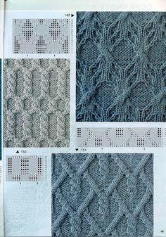 Вязание спицами схемы, узоры, араны
