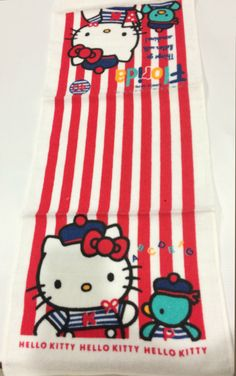 Vintage Sanrio Hello Kitty towel made in Japan 1988 by TownOfMemories on Etsy