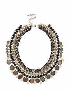 SuiteBlanco- Collar cadena hilo monedas Maxi Collar, Y Image, Jewerly, Crochet Earrings, Pendant Necklace, Cleopatra, Egyptian, Inspiration, Accessories
