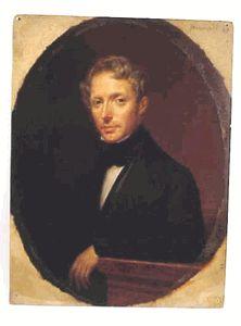 Oil on board - portrait by Vigneron