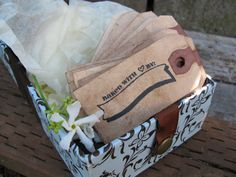 """Tags Hand Stamped With The Words, """"Baked With Love By:"""" Great for those home baked goods this holiday season!"""