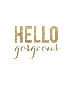 "Palm Beach Lately ""Hello Gorgeous"" Print"
