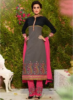 Exquisitely embroidered ethnic dress material. <3 NOW AT 41% OFF.. Hurry! Shop now.