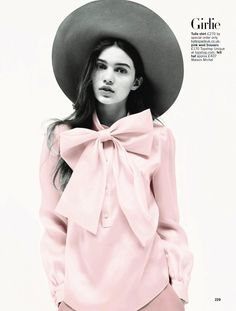 Pretty In Pink: Constanze Saemann By Walter Chin For Uk Glamour September 2013