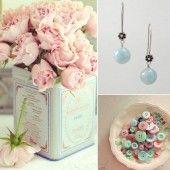 pastel wedding colour scheme - powder pink, duck egg blue