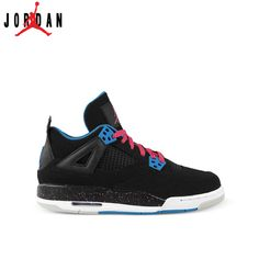meet 74075 051e9 487724-019 Air Jordan 4 (IV) Black Dynamic Blue-White-Vivid Pink,Jordan-Jordan  4 Shoes Sale Online