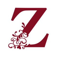 z harfi Silhouette Design Store: Flourish Heart Monogram - Z Letter S Calligraphy, Hand Lettering Alphabet, Alphabet Design, Monogram Wallpaper, Name Wallpaper, Silhouette Cameo Projects, Silhouette Design, Beautiful Handwriting, Butterfly Template
