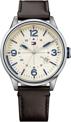Tommy Hilfiger Peter For Men Beige Dial Leather Band Watch - 1791102 price, review and buy in UAE, Dubai, Abu Dhabi | Souq.com