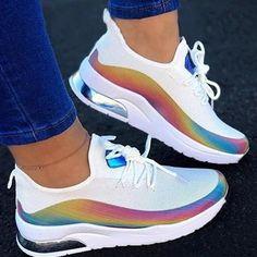 Floryday - Best Deals for Latest Women's Fashion Online Shopping Wedge Heel Sneakers, Sneaker Heels, New Sneakers, Casual Sneakers, Air Max Sneakers, Casual Shoes, Sneakers Women, Colorful Sneakers, Running Sneakers