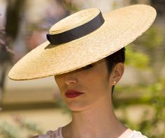 The Summer Vogue Hat - Formal Boat Hat- Natural Straw Wide Brim - Ascot Hat for Races w/ Dark Navy Ribbon - Ladies Day Hat - Wedding Hat - hats for women Navy Ribbon, Satin Ribbons, Grosgrain Ribbon, Boater Hat, Wedding Hats, Vogue Wedding, Ribbon Wedding, Formal Wedding, Mode Vintage