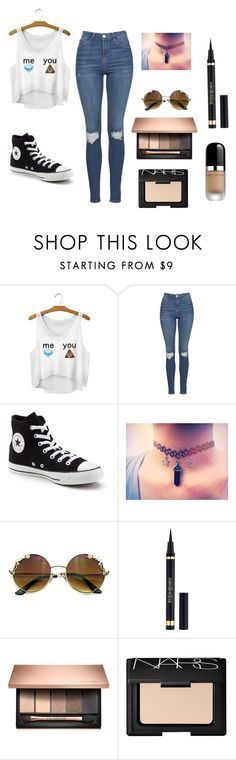 """Why we are different !!!"" by milayla08 on Polyvore featuring Topshop, Converse, Yves Saint Laurent, NARS Cosmetics and Marc Jacobs"