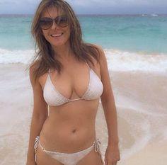 51 year old Elizabeth Hurley puts her bikini body on display