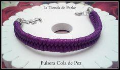 Pulsera cola de pez Se puede hacer en el color que más te guste. Www.facebook.com/latiendadepezke